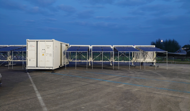 Faber Mobile Power System At Night